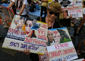 """Trash, slave, stinky"": an anti-Yingluck protester"