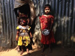 Kids in a Rohingya camp